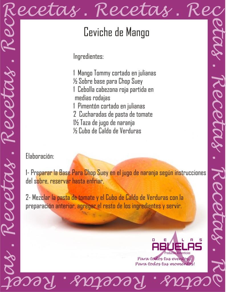 Receta 14 Ceviche de Mango
