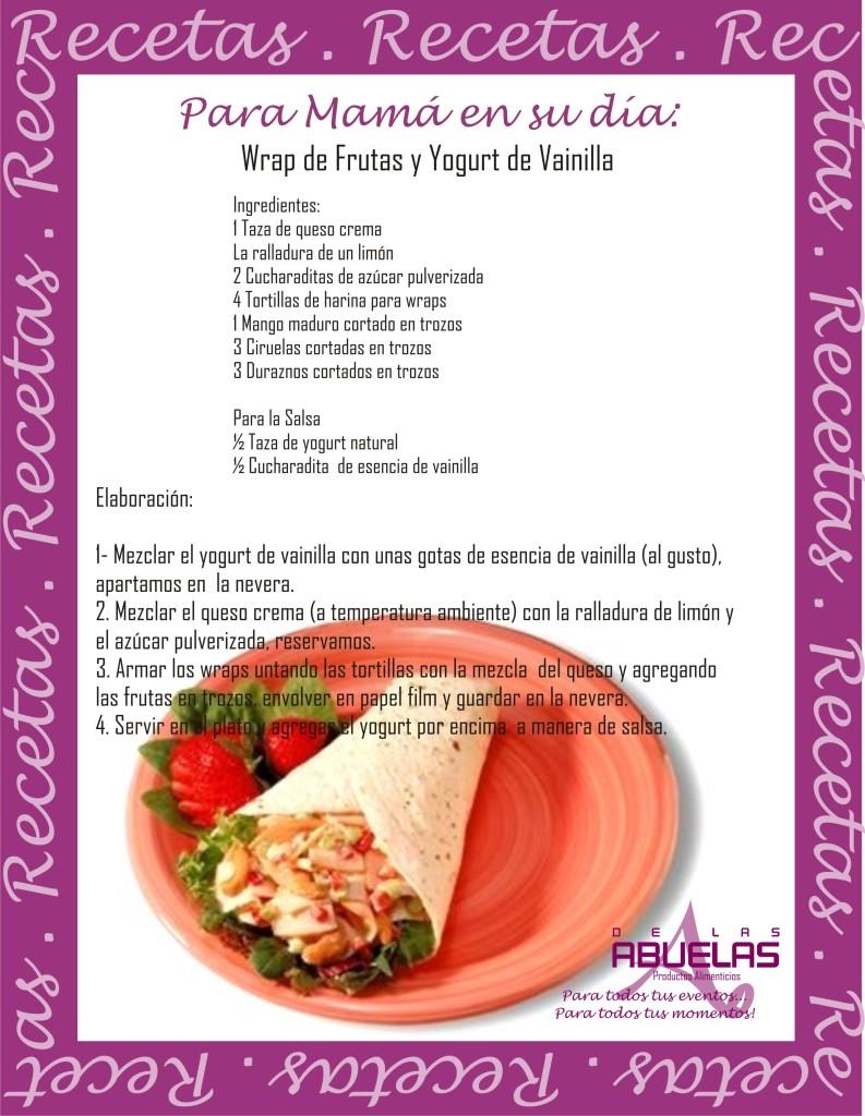 Receta 16 Wrap de Frutas y Yogurt de Vainilla